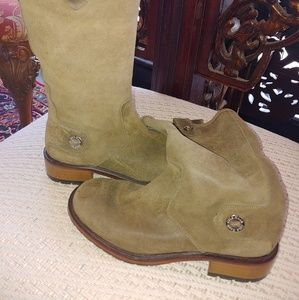 Cole Haan green suede boots size 7B